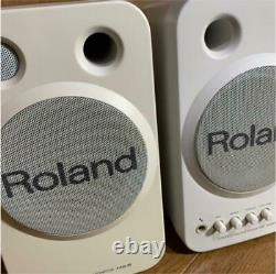 ROLAND MA-8 Stereo Micro Monitor Speakers Active Powered Studio Pair 100V