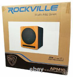 Rockville APM10C 10 400 Watt Powered/Active Studio Subwoofer Pro Reference Sub