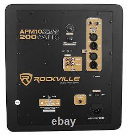 Rockville APM10W 10 400 Watt Powered/Active Studio Subwoofer Pro Reference Sub