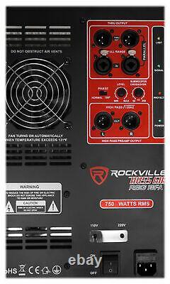 Rockville RBG18FA 18 3000 Watt Powered Subwoofer Folded Horn PA/DJ Sub + Riser