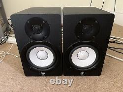 Yamaha HS50M Active Powered Studio Monitor Speakers, mains leads, original boxes