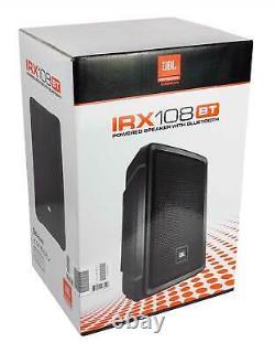 2 Haut-parleurs Mp Portables Jbl Irx108bt 8 1000 Watt Avec Bluetooth+stands