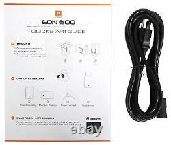 (2) Jbl Eon610 10 2000 Watt Powered Active 2-way Dj Haut-parleurs Pa Avec Bluetooth