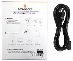 2 Jbl Eon610 10 2000w Haut-parleurs Dj Pa Powered Withbluetooth + Stands + Câbles + Scrims