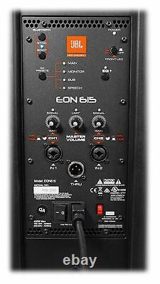 2 Jbl Eon615 15 2000w Haut-parleurs Dj Pa Powered Avec Bluetooth App Ctrl+stands+cables