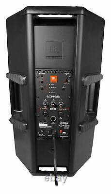 2 Jbl Eon615 15 2000w Powered Dj Pa Speakers Withbluetooth App Ctrl+stands+cables