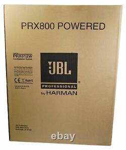 (2) Jbl Prx812w 12 1500w Haut-parleurs Dj Alimentés Avec Dsp/wifi+stands Totem Réglables
