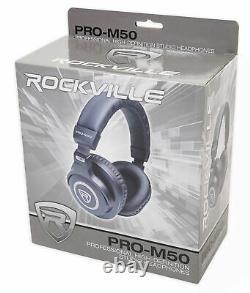 (2) Krk Classic 5 Studio Monitor 5 Nearfield Powered Speakers+pro Casque
