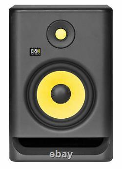 (2) Krk Rp7-g4 Rokit Powered 7 Studio Monitors+stands+pads+cables+earbuds