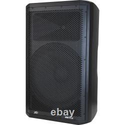 (2) Peavey DM 115 Dark Matter Pro Audio Powered 15 Haut-parleur Avec Supports Et Câbles