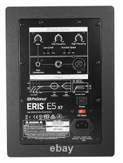 (2) Presonus Eris E5 Xt 5.25 Haut-parleurs Alimentés De Moniteur De Studio Avec Le Guide D'onde E5xt