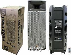 2 Pro Pa Dj Dual 15 3way Full Range Haut-parleur Bluetooth Alimenté, 2 Affichage