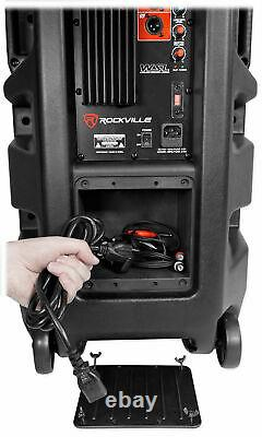 (2) Rockville Bpa225 Dual 15 Powered 1500w Dj Pa Speakers W Bluetooth+tws+mixer