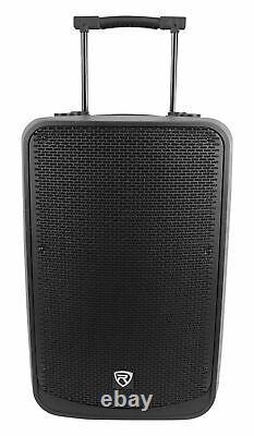 2 Rockville Titan 15 15 2000w Powered Dj Pa Haut-parleurs / Bluetooth / Dsp / Sans Wireless Tws