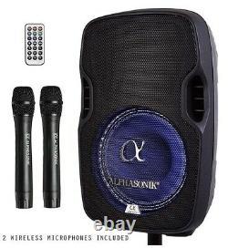 Alphasonik 8 Batterie Rechargeable Portable Alimenté 800w Pro Haut-parleur Amplifié