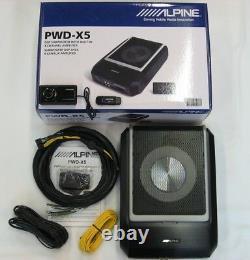 Alpine Pwd-x5 Puissant Subwoofer Actif + Amp 4 Canaux + Dsp Bluetooth Nouveau 2019