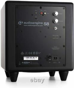 Audioengine S8 250w Powered Active Subwoofer Built-in Amplificateur Noir
