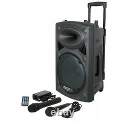 Batterie Portable Ibiza Sound Powered Bluetooth Pa System 700w Sans Fil Radio MIC