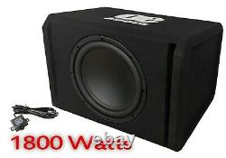 Big Power 1800w 12 Amplified Active Subwoofer Sub Amp Bass Box Bowest Prix