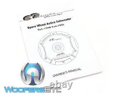 Cdt Audio Sub-15sl Car Spare Wheel Active Subwoofer Built In Bass Power Amp Nouveau