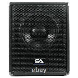 Coffret 12 Inch Pro Audio/dj Subwoofer Avec Ampli Classe D 800 Watts