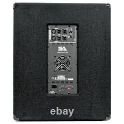 Coffret 15 Inch Pro Audio/dj Subwoofer Avec Ampli Classe D 1000 Watts