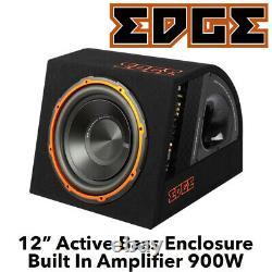 Edge Edb12a-e0 12 Active Car Bass Enclosure Subwoofer 900w Max Power Bnib