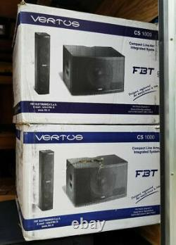 Fbt Cs1000 Vertus Compact Powered Line Array 12 Sub Avec Couverture De Transport