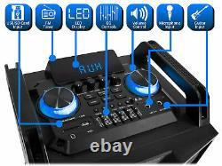 Haut-parleur Bluetooth Propulsé Technical Pro Dual 10 3000w Avec Micro Sans Filusb/sd/led+wireless