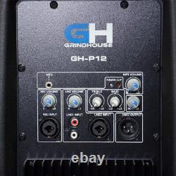 Haut-parleurs Grindhouse Active 12 Inch Powered Dj Pa Haut-parleur 500 Watts Rms