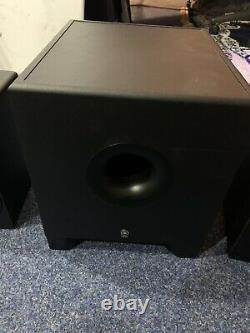 Haut-parleurs Yamaha Hs5 & Hs8 Subwoofer Black Active Powered Monitor