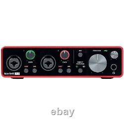 Jbl 306p Mkii 6.5 Powered Studio Monitor Haut-parleurs Paire W Scarlett 2i2 3g Inter