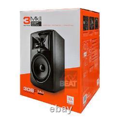 Jbl 308p Mkii Powered 8 2-way Active Studio Monitor Reference Speaker 110-240v