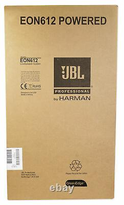 Jbl Eon612 12 1000 Watt 2-way Powered Dj Pa Speaker System Avec Bluetooth