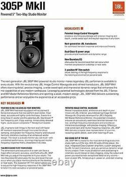 Jbl Professional 305p Mkii 5-inch 2-way Powered Studio Monitor Paire