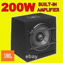 Jbl Stage 800ba 200w 8 Ported Active Car Van Subwoofer Construit Dans Amp New
