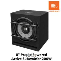 Jbl Stage 800ba 8 Ported Powered Active Car Subwoofer 200w Système Amplifié