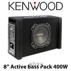 Kenwood Pa-w801b 8 Sous-woofer Actif Surdimensionné Dans Une Enceinte Portée 400w Puissance