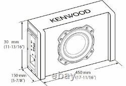 Kenwood Pa-w801b 8 Subwoofer Surdimensionné Actif Dans L'enceinte Ported 400w Puissance