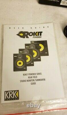 Krk Rokit 5 Moniteurs De Studio Motorisés/haut-parleurs 100w Fabriqué 03/08/2005