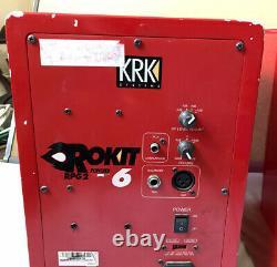 Krk Systems Rokit 6 Rpg2 Rare Red Powered Studio Monitors Pro Audio S'il Vous Plaît Lire