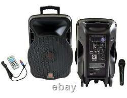 M. Dj Dsp-4000 15 Powered 4000w Pro Dj Bluetooth Usb Pa Led MIC Usb Speaker