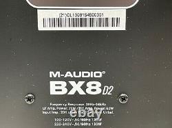 M-audio Bx8 D2 Studio Powered Monitor Haut-parleurs (paire) Noir