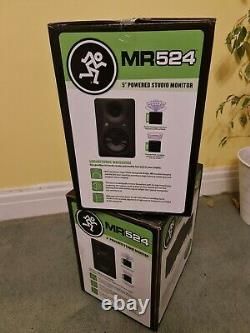 Mackie Mr524 5 100w Active Powered Studio Monitor Paire De Haut-parleurs