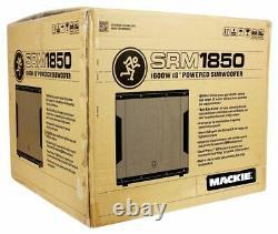 Mackie Srm1850 1600w 18 Powered Active Pro Subwoofer Sub Avec Smart Protect Dsp