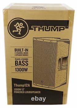 Mackie Thump12a Thump-12a 12 1300 Watt En Haut-parleur Dj Pa Actif, Classe D