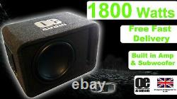 Mega Power 1800w 12 Boîte De Basse Subwoofer Subwoofer Active Amplifié