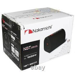 Nakamichi 10 Tube De Tunnel Actif Woofer 1000 Watts Max Puissance Amplifiée Nbt1005a