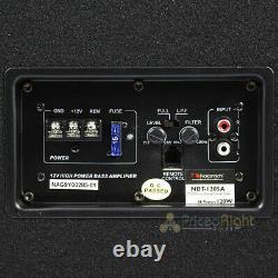 Nakamichi 12 Tube De Tunnel Actif Woofer 1200 Watts Max Puissance Amplifiée Nbt1205a