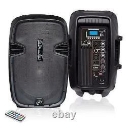 Nouveau Pphp1037ub 10'' Powered 2-way Speaker Mp3 Usb Sd Input + Bluetooth & Record